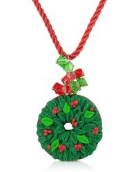 Dolci Gioie - Christmas Wreath Necklace - Lyst