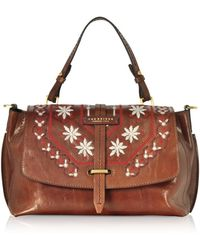 The Bridge - Fiesole Embroidered Leather Satchel Bag - Lyst