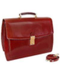 L.A.P.A. - Cognac Leather Briefcase - Lyst