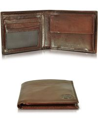 The Bridge - Story Uomo Dark Brown Billfold Wallet W/coin Pocket - Lyst