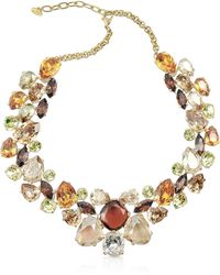 AZ Collection - Multicolour Crystal Necklace - Lyst