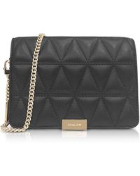 Michael Kors - Jade Black Quilted-leather Clutch - Lyst