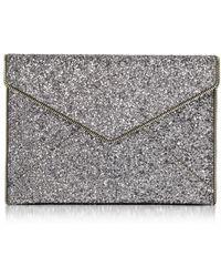 Rebecca Minkoff | Glitter Leo Envelope Clutch | Lyst