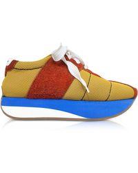 Marni - Sneakers Big Foot in Suede Ocra e Ruggine - Lyst