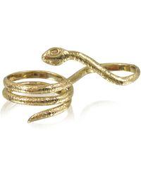 Bernard Delettrez - Two Fingers Bronze Ring W/3 Laps Snake - Lyst