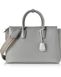 MCM - Milla Beige Leather Large Tote Bag - Lyst