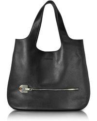 Giorgio Fedon - Amelia Black Leather Slim Tote Bag - Lyst