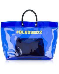 DSquared² | Blessed Blue Medium Tote Bag | Lyst