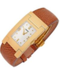 Versace - On Fifth - Men's Gold Plated Brown Leather Watch - Lyst