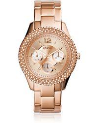 Fossil - Stella Multi-function Rose Tone Women's Watch - Lyst