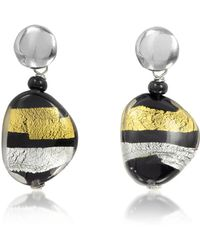 Antica Murrina - Moretta Pastel Glass Beads W/24kt Gold And Silver Leaf Earrings - Lyst