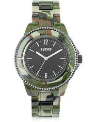 Versus - Tokyo 42 Stainless Steel Camo Acetate Unisex Watch - Lyst