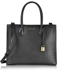 Michael Kors - Mercer Large Convertible Bonded-leather Tote - Lyst