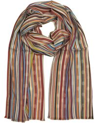 Paul Smith - Signature Stripe & Polka Dot Viscose Blend Men's Scarf - Lyst