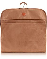 Bric's - Life Camel Micro-suede Garment Bag - Lyst