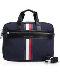 Tommy Hilfiger - Tommy Blue Striped Nylon Elevated Briefcase - Lyst