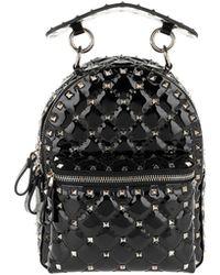 Valentino - Rockstud Backpack Mini Spike Leather Black - Lyst