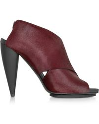 Proenza Schouler - Bordeaux Kebir Haircalf Slingback Sandal - Lyst