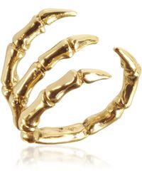 Bernard Delettrez Golden Brid Claw Bronze Ring