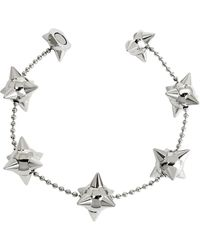 DSquared² - Pierce Me Palladium Plated Metal Spiked Chain Armlet - Lyst