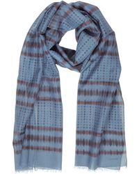 Lanvin | Batik Print Cotton Blend Men's Long Scarf W/fringes | Lyst