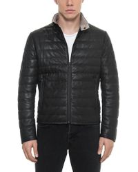 FORZIERI - Black Quilted Leather Men's Jacket - Lyst