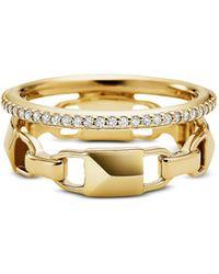 Michael Kors - Mkc1025an710 Mercer Link Women's Ring - Lyst