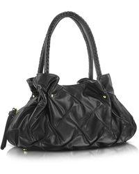 Fontanelli - Pleated Nappa Leather Satchel Bag - Lyst