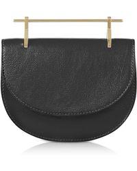 M2malletier Black Leather Mini Half Moon Bag