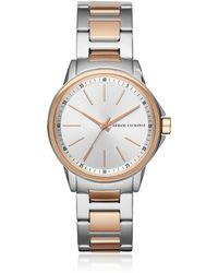 Armani Exchange - Lady Banks Two Tone Pvd Women's Watch - Lyst