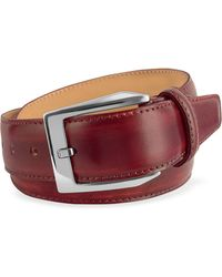 Pakerson - Men's Wine Red Hand Painted Italian Leather Belt - Lyst