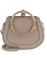 8a9576cf2a02 Chloé - Small Nile Bracelet Bag Motty Grey - Lyst
