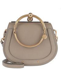 Chloé - Small Nile Bracelet Bag Motty Grey - Lyst