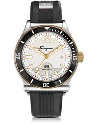 Ferragamo - 1898 Rubber-Strap Sport Watch - Lyst