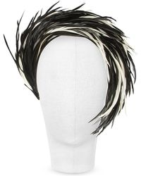 Nana' - Aurora - Black And White Feather Headband - Lyst