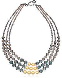 Antica Murrina - Atelier Nuance - Grey & Amber Murano Glass Choker - Lyst