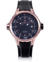 Lancaster - Space Shuttle Automatic Rose Gold Pvd Stainless Steel And Silicon Men's Watch - Lyst