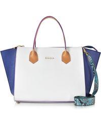 Francesco Biasia - Fleur Colour Block Leather Satchel Bag - Lyst