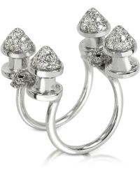 Bernard Delettrez - Four Studs With Diamonds Ring - Lyst