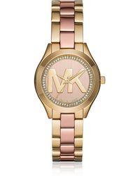 Michael Kors - Mini Slim Runway Women's Watch - Lyst