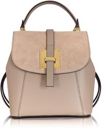 Le Parmentier | Palazia Taupe Suede And Leather Small Backpack | Lyst