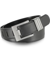 FORZIERI - Black Leather Belt - Lyst