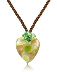 House of Murano - Vortice - Lime Murano Glass Swirling Heart Necklace - Lyst