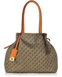 Gherardini - Alma Millerighe And Mandarin Fabric Reversible Medium Tote Bag - Lyst