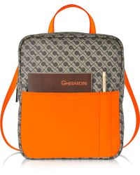 Gherardini - Julieta Millerighe Fabric And Eco Leather Backpack - Lyst