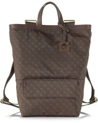 Gherardini - Aracely Softy Fabric And Leather Backpack/tote Bag - Lyst