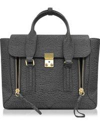 3.1 Phillip Lim | Pashli Ash And Charcoal Leather Medium Satchel | Lyst