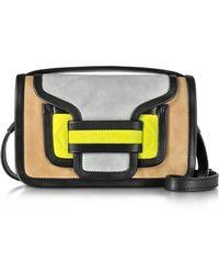 Pierre Hardy - Alpha Multicolor Suede & Black Leather Crossbody Clutch - Lyst