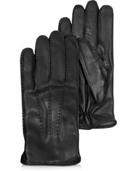 Moreschi - Canada Black Leather Men's Gloves W/cashmere Lining - Lyst