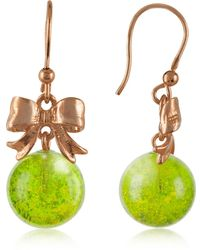 Naoto - Green Drop Earrings - Lyst